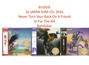 BUDGIE 2016 MADE IN JAPAN zestaw 3x SHM CD
