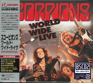 SCORPIONS World Wide Live DELUXE JAPAN Blu-spec CD+DVD (SICX-30020)