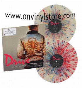 CLIFF MARTINEZ Drive 2xLP Crystal Clear with multi colour splatter vinyl