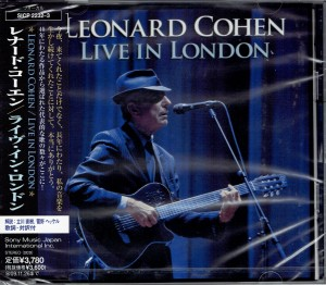 LEONARD COHEN Live in London JAPAN 2xCD SICP-2232