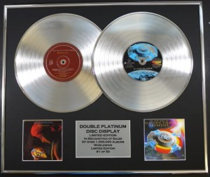 E.L.O. Discovery & All Over The World ELO 2 PLATYNOWE LP display