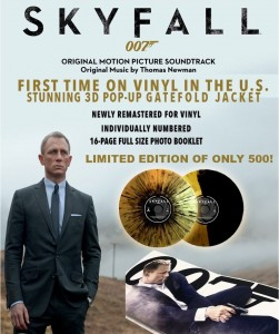 SKYFALL - BOND OST - gold / black VINYL 2xLP