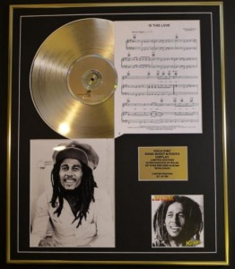 BOB MARLEY & THE WAILERS Kaya GOLD LP display + songsheet
