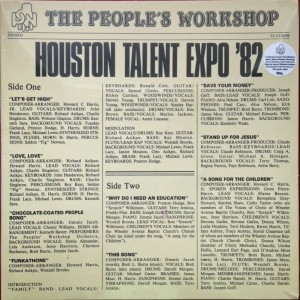 THE PEOPLE'S WORKSHOP Houston Talent Expo 1982 180g