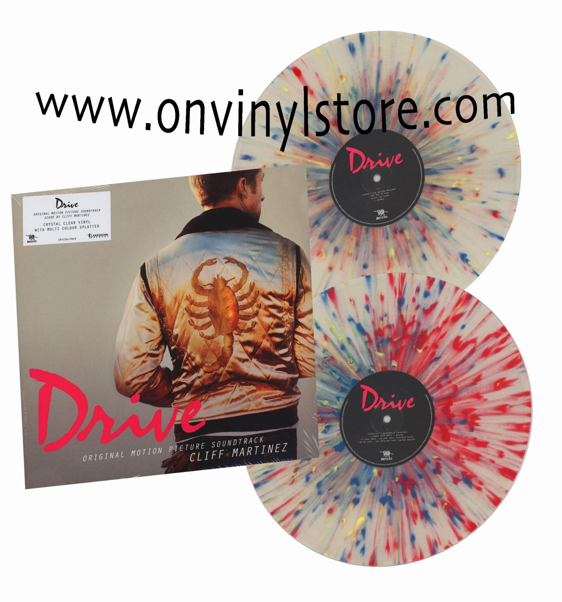 CLIFF MARTINEZ Drive 2xLP Crystal Clear with multi colour splatter vinyl