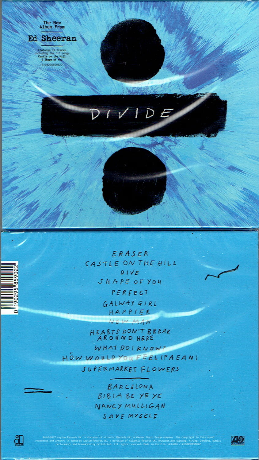 ED SHEERAN Divide - DELUXE CD -16 TRACKS