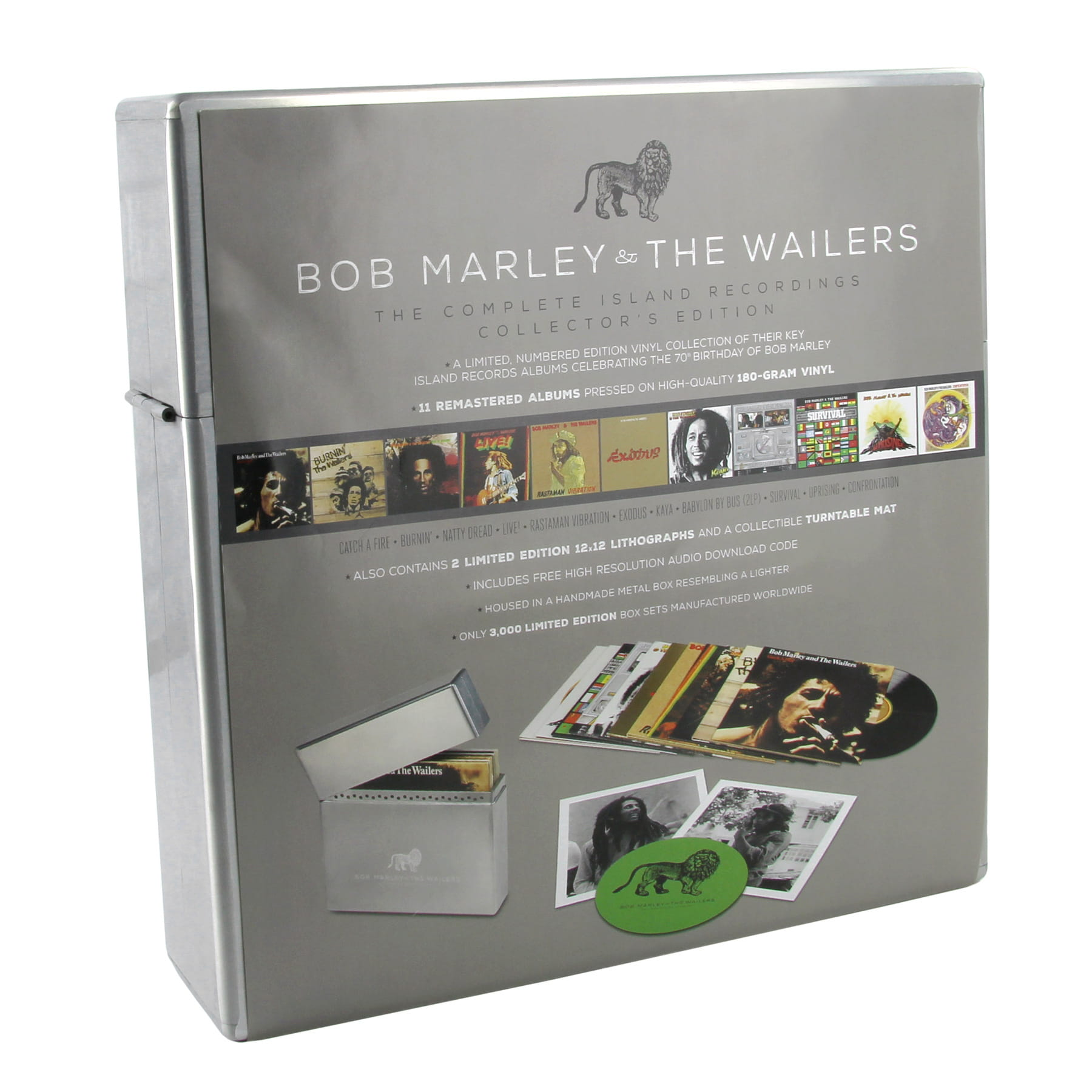 BOB MARLEY The Complete Island Recordings 12xLP METAL BOX Collectors Edition