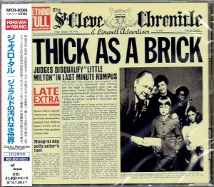 JETHRO TULL Thick As A Brick JAPAN CD+BONUS (WPCR-80069)