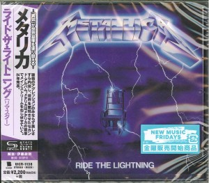METALLICA Ride the Lightning (REMASTERED JAPAN SHM-CD UICR-1138)