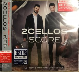 2CELLOS (Sulic & Hauser) Score (Blu-spec CD2 SICP-31122 Japan Bonus Track)