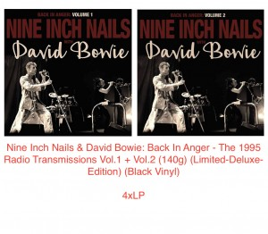 NINE INCH NAILS & DAVID BOWIE Back In Anger 4xLP Limited-Deluxe-Edition Black Vinyl