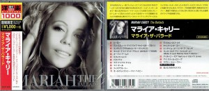 MARIAH CAREY The Ballads - JAPAN CD + bonus tracks SICP-5231