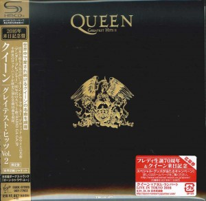 QUEEN Greatest Hits 2 JAPAN SHM-CD cardboard miniLP (UICY-77922)