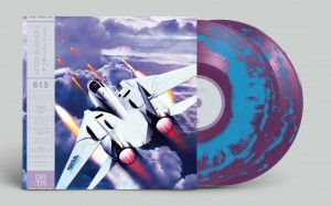 After Burner II SEGA OST LIMITED Purple & Blue Swirl LP (DATA015)