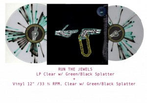 RUN THE JEWELS Run the Jewels LIMITED GREEN SPLATTER COLOURED VINYL LP+12'