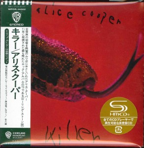 ALICE COOPER Killer JAPAN SHM-CD WPCR-14302