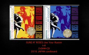 GUNS N' ROSES Use Your Illusion 2xSHM JAPAN cardboard (UICY-94336/37)