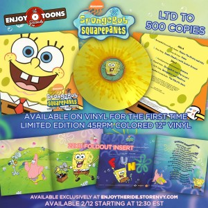SpongeBob SquarePants KANCIASTOPORTY splatter vinyl LP limited to 500 copies 45rpm