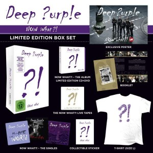 DEEP PURPLE Now What?! LIMITED BOX +T-SHIRT