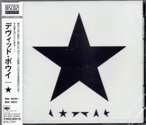 DAVID BOWIE Black Star Blackstar JAPAN CD SICP- 30918