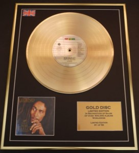 BOB MARLEY & THE WAILERS Legend GOLD LP display