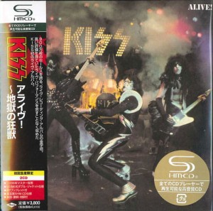 KISS Alive JAPAN 2xSHM CD CARDBOARD UICY-93653-54