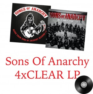 Music From Sons of Anarchy 4x CLEAR LP -2015 zestaw