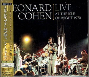 LEONARD COHEN Live Isle of Wight CD+DVD JAPAN  SIBP-160