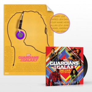 GUARDIANS OF THE GALAXY deluxe vinyl 2014 2xLP + promo poster