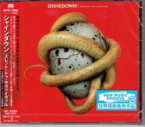 SHINEDOWN Threat To Survival JAPAN CD +bonus track WPCR-16860