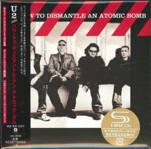 U2 How To Dismantle An Atomic Bomb JAPAN SHM CD +BONUS A4 clear file UICI-9065