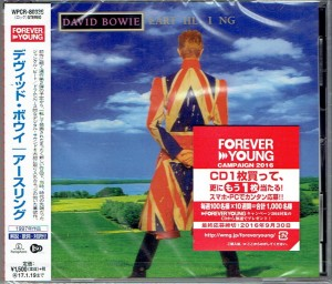 DAVID BOWIE Earthling - JAPAN CD (2016) WPCR-80336