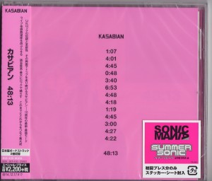 KASABIAN 48:13 - JAPAN CD first press SICP-4130+ bonus