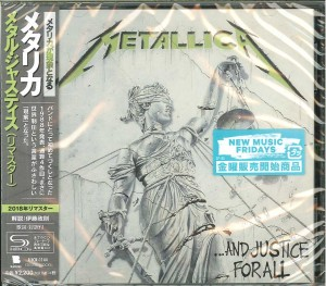 METALLICA . . . And Justice for All (REMASTERED SHM-CD UICR-1144)