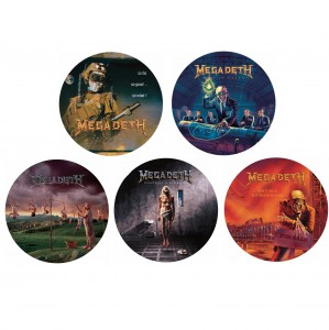 MEGADETH bundle 5x picture discs LP 180g