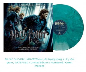 HARRY POTTER Deathly Hallows COLOURED 2xLP MOVATM040