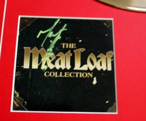 MEAT LOAF Collection z autografem GOLD LP display