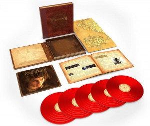HOWARD SHORE Władca Pierścieni The Lord Of The Rings: The Fellowship Of The Ring - The Complete Recordings (red vinyl 5xLP) BOX EX