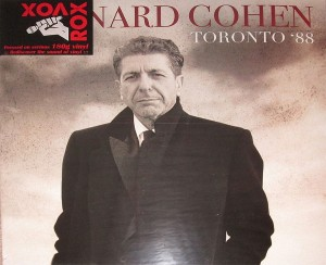 LEONARD COHEN Toronto 1988 -LTD NUMBERED COLOUR 2xLP 180g