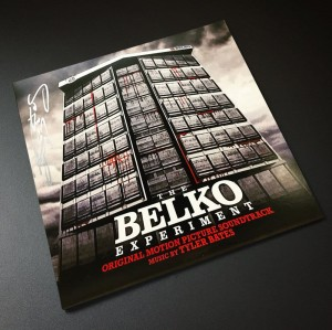 signed by TYLER BATES Belko Experiment COLOR LP