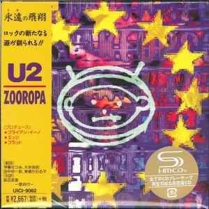 U2 Zooropa JAPAN LIMITED CARDBOARD SHM CD +BONUS A4 clear file UICI-9062