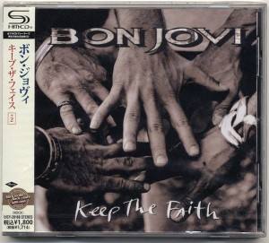 BON JOVI Keep The Faith JAPAN SHM CD +bonus UICY-20188