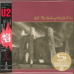 U2 The Unforgettable Fire - JAPAN SHM CD cardboard sleeve (UICI-9058)