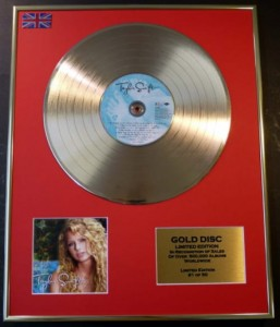 TAYLOR SWIFT Taylor Swift GOLD - display