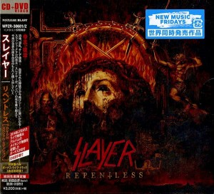 SLAYER Repentless CD+DVD JAPAN (WPZR-30681)