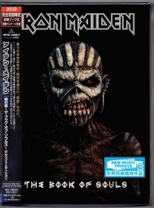 IRON MAIDEN The Book of Souls JAPAN DELUXE BOX 2CD  WPCR-16856