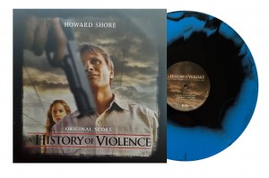 HOWARD SHORE A History Of Violence - NUMBERED COLOUR IN COLOUR BLUE & BLACK VINYL