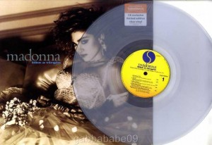 MADONNA Like A Virgin UK EXCLUSIVE LIMITED EDITION CLEAR VINYL.