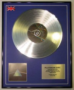 PINK FLOYD Dark Side Of The Moon /LTD PLATINUM EDITION DISPLAY CD