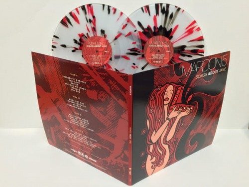 Maroon 5 Songs About Jane Deluxe Color Vinyl 2xlp Clear With Red Black Splatter Onvinylstore